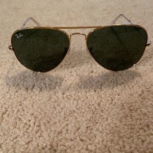 Ray-Ban Aviators - gold trim